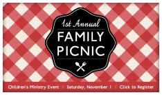 Children's Ministry Family Picnic - Nov 1 2014 4:00 PM