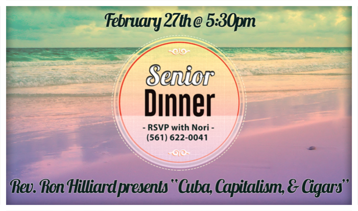 Senior Dinner - Jan 30 2015 5:30 PM