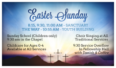 Easter Sunday Services - Apr 5 2015 8:15 AM