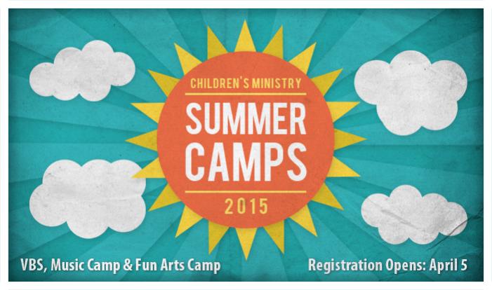 Summer Camp Registrations Open Online - Apr 5 2015