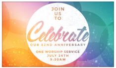 52nd Anniversary Churchwide Service - Jul 26 2015 9:30 AM