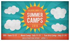 Summer Camps Registration Open  - Apr 3 2016