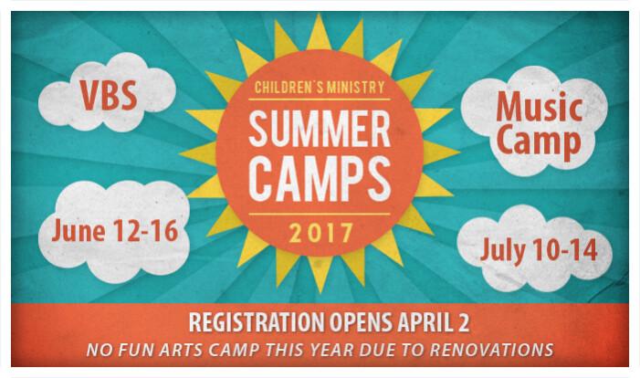 Summer Camps Registration Open  - Apr 2 2017