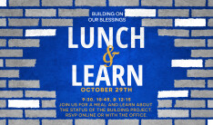 Building on Our Blessings Lunch and Learn - Oct 29 2017