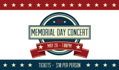 Memorial Day Concert - May 28 2018 7:00 PM