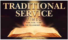 Traditional Service Times and Bulletin